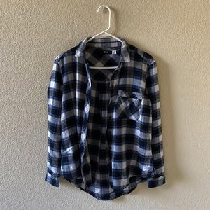 Blue White Navy Flannel BDG